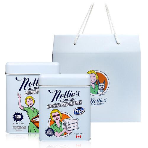 넬리 블루 선물세트 [소다세제(125회)1.9kg + 산소표백제1kg]