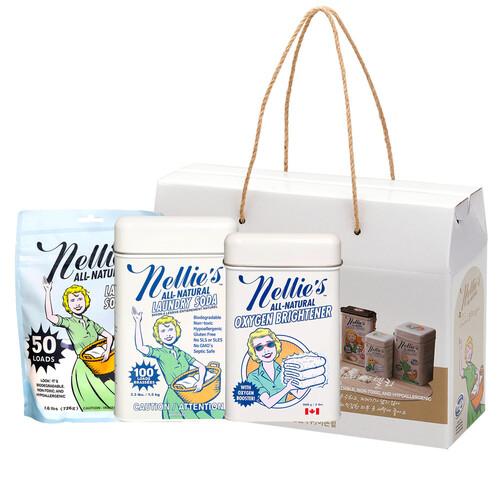 넬리 화이트 선물세트 (소다세제100회 + 산소표백제900g + 소다세제50회)